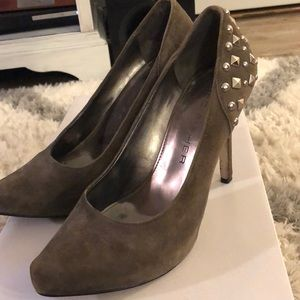 Suede Marc Fisher studded heels